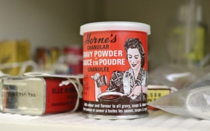 Can of gravy powder, circa 1940s in the museum's permanent collection