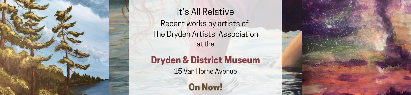 "Poster for The Dryden Artists' Association Exhibit ""It's All Relative"""