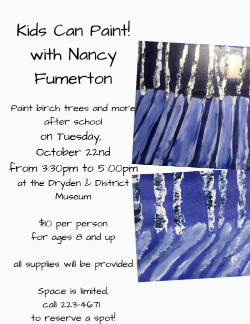 Poster for an art workshop with Nancy Fumerton