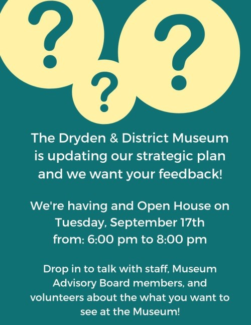 Poster for Museum Open House