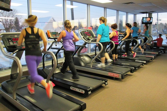 Photo of girls on treadmills