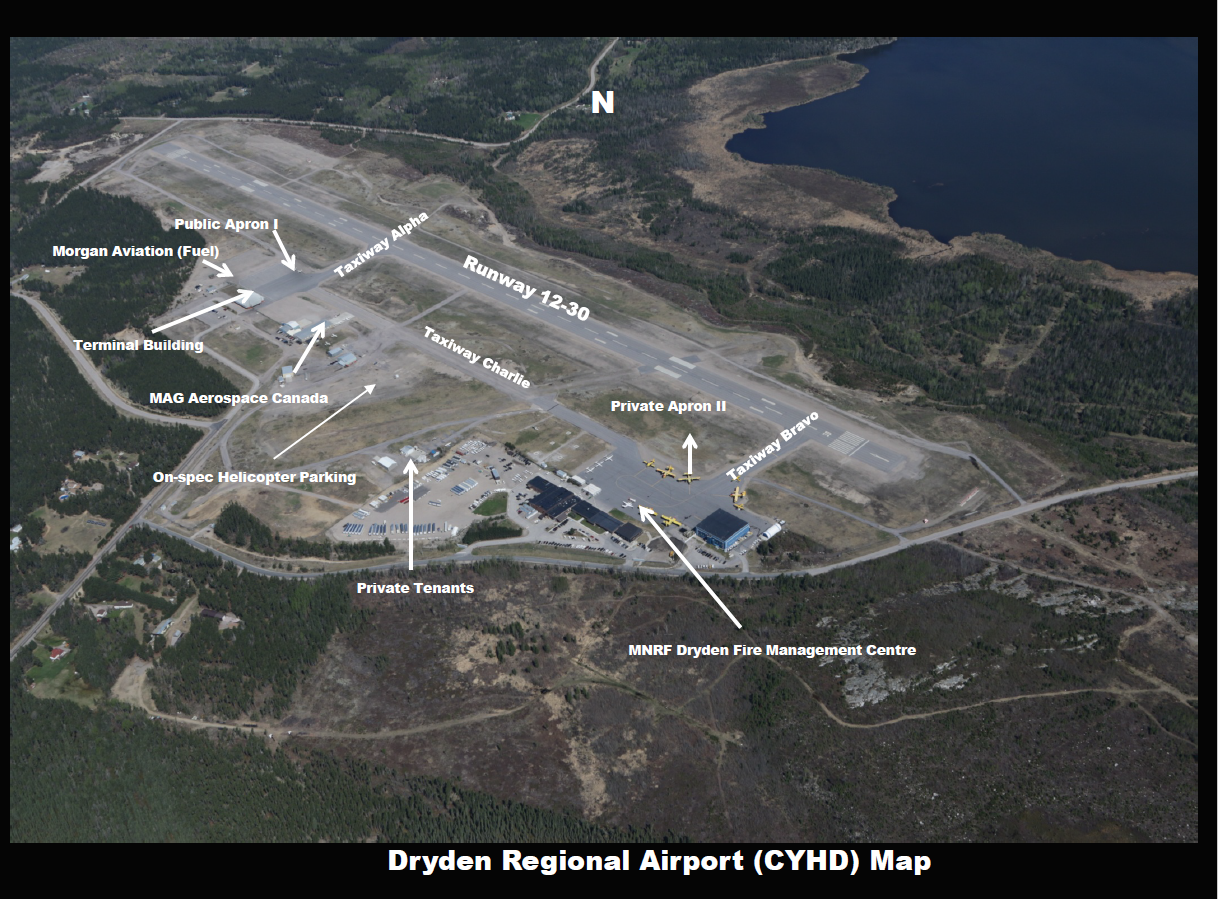 map of Dryden Airport