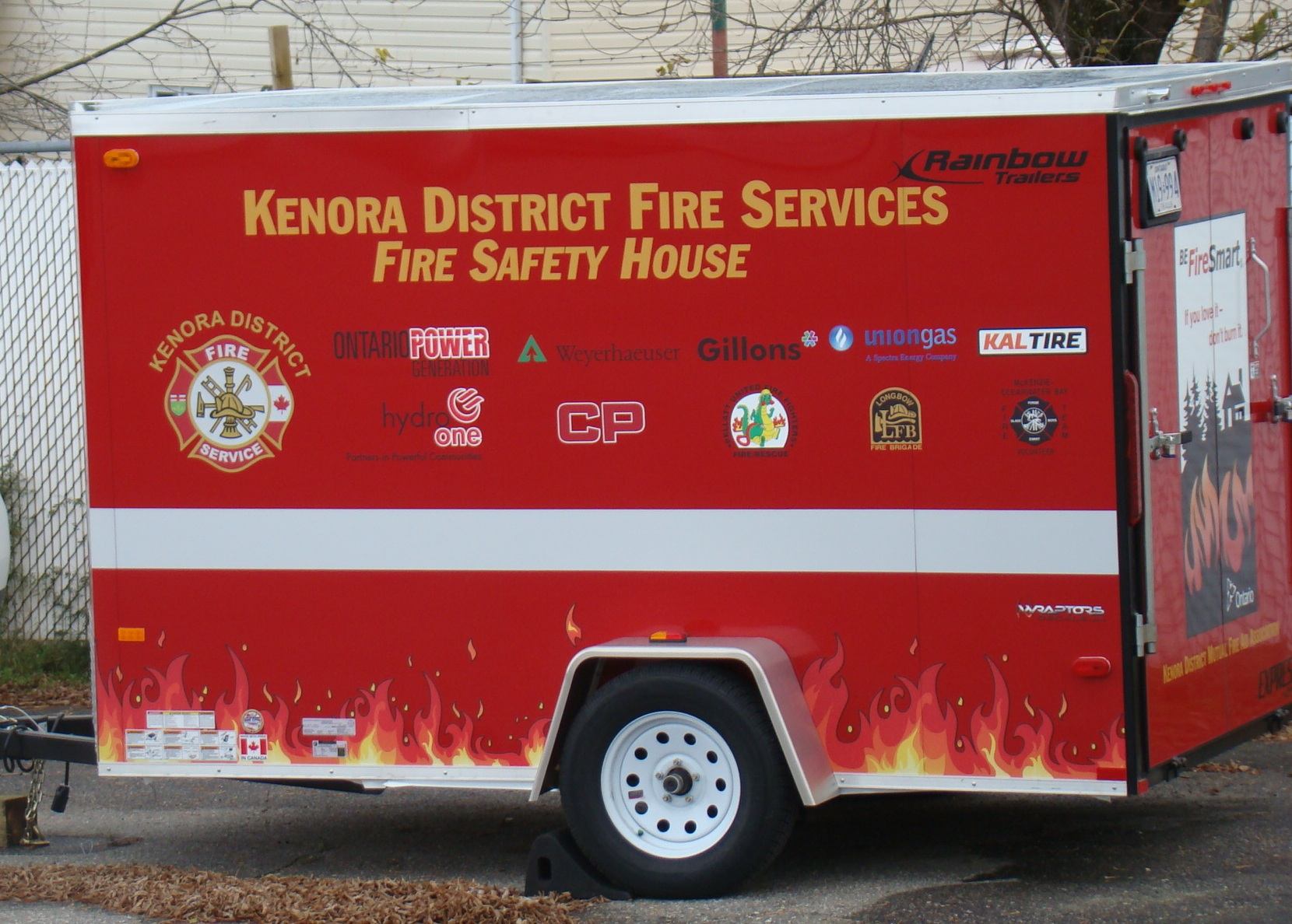 Image of fire safety house trailer
