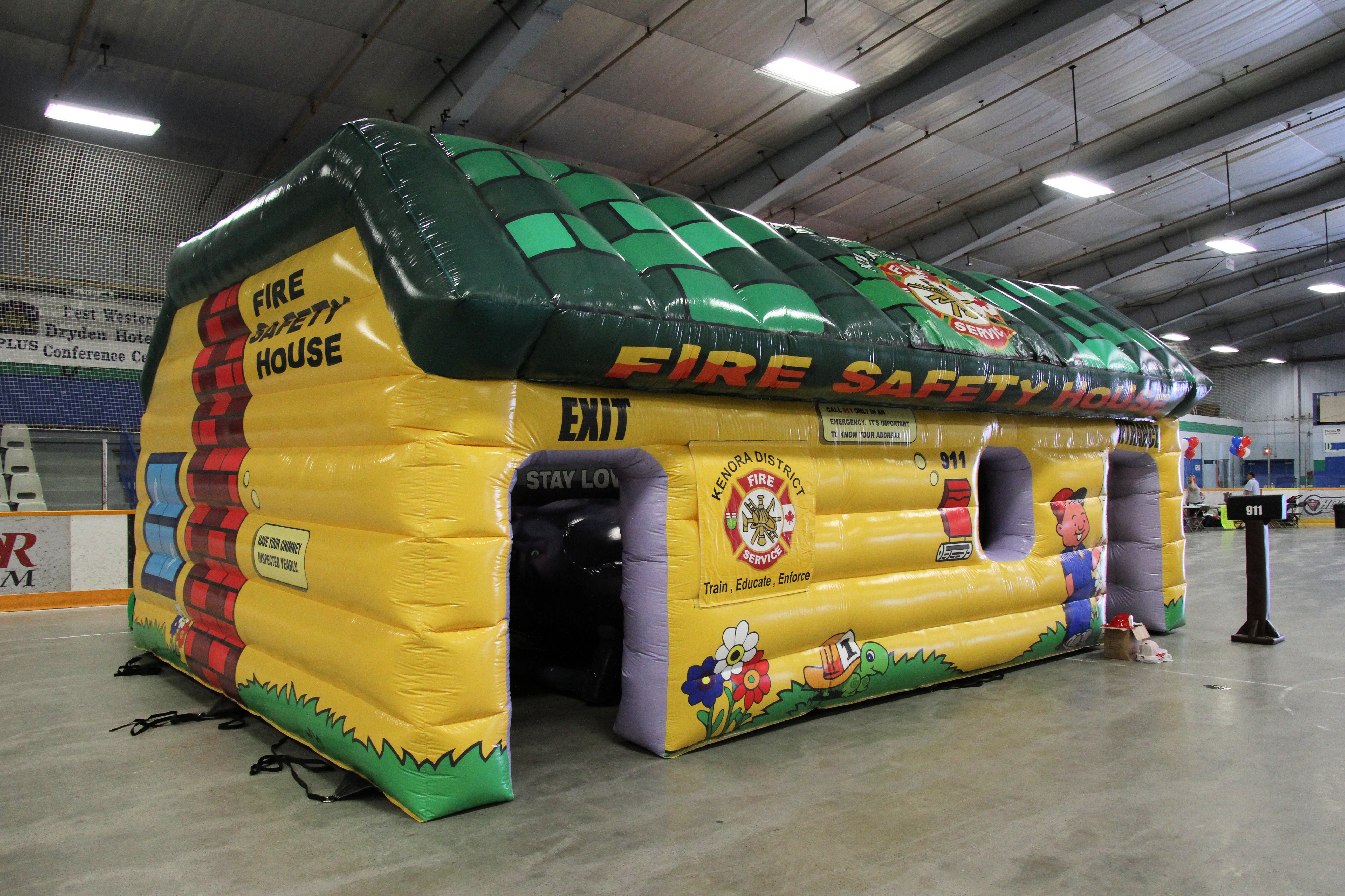 Image of inflatable fire safety house